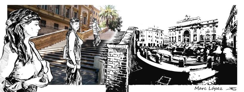 Pisadas de tinta por Italia -1