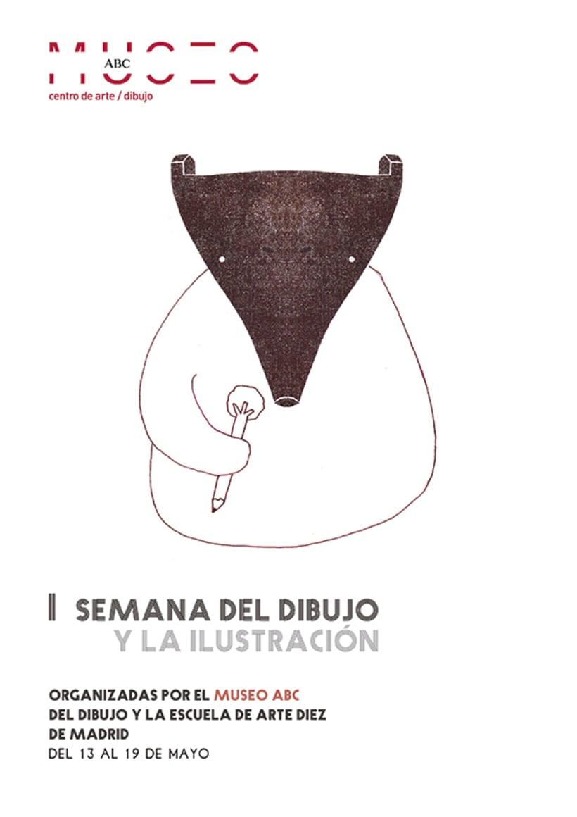 II SEMANA DEL DIBUJO Y LA ILUSTRACIÓN  Museo ABC_Cartel 0