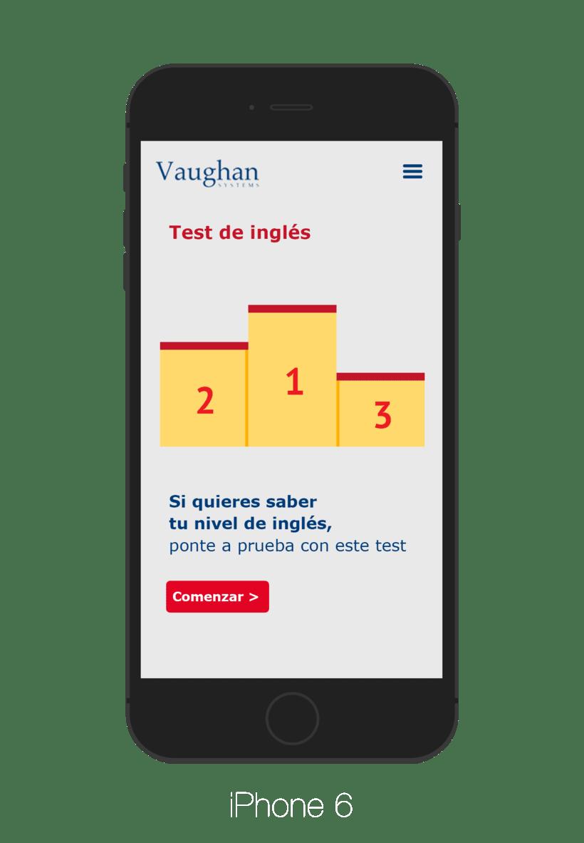 App para test de nivel - Grupo Vaughan 4