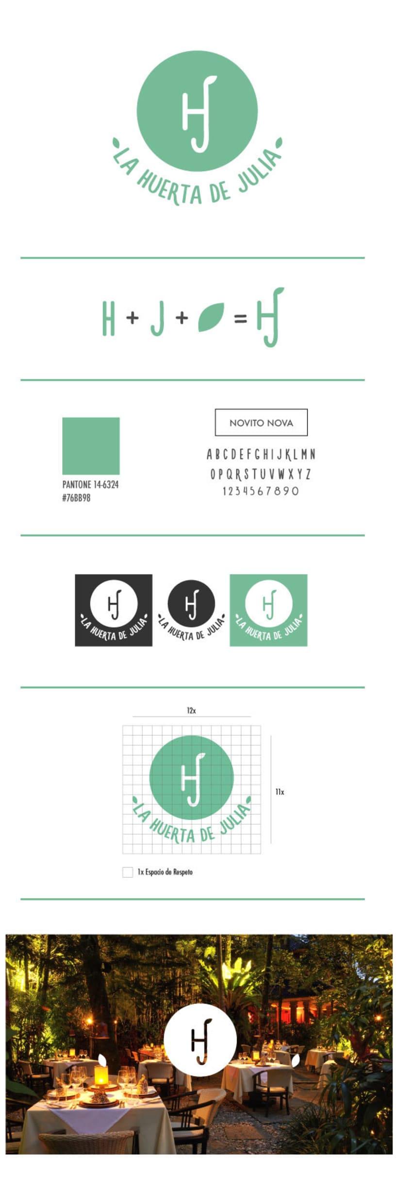 La Huerta de Julia - Identidad Corporativa -1
