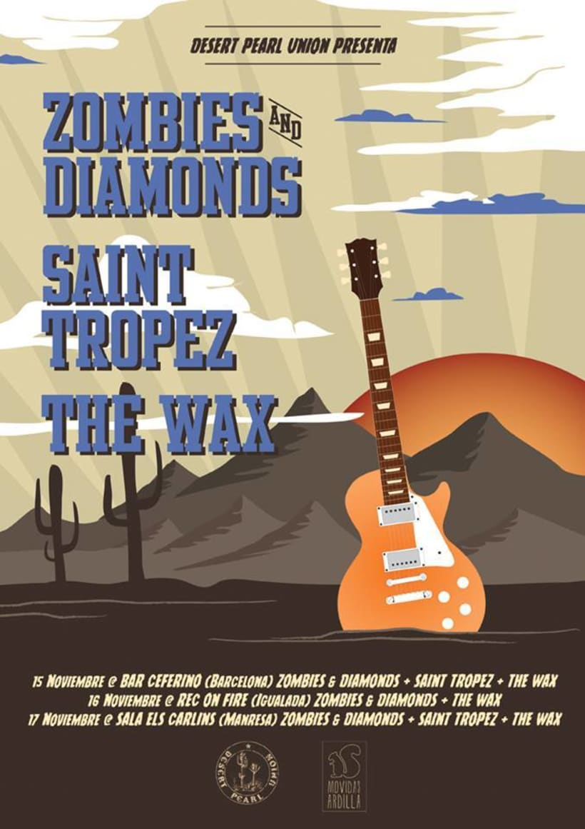 Cartel ZOMBIES AND DIAMONDS + SAINT TROPEZ + THE WAX -1