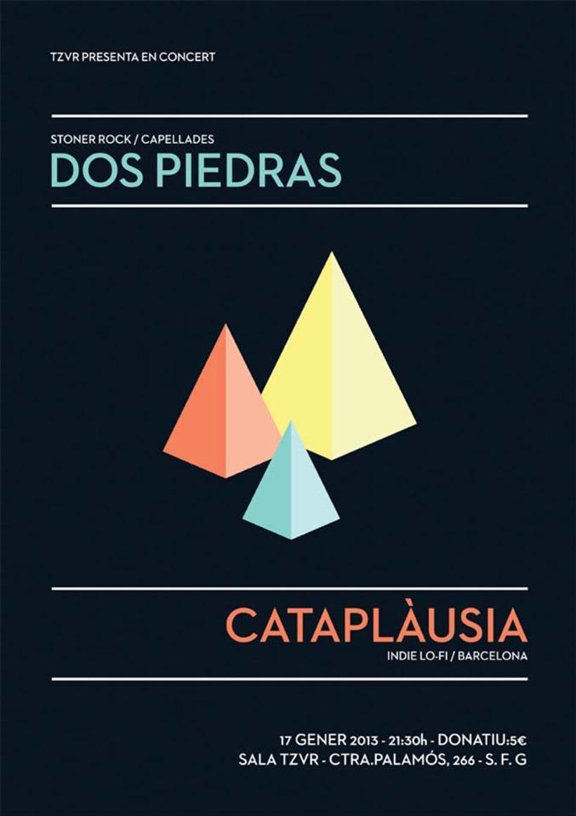 Cartel DOS PIEDRAS + CATAPLÀUSIA -1