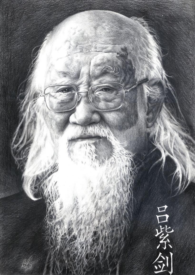 Retrato del Gran Maestro Lu Zijian -1