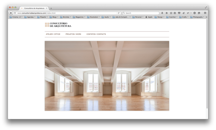 "Website for ""Consultório de Arquitectura"" 