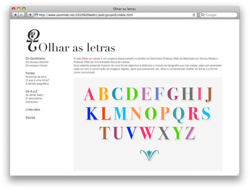 Website Olhar as Letras  -1
