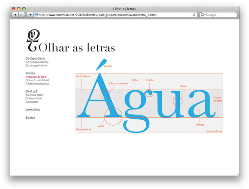 Website Olhar as Letras  0