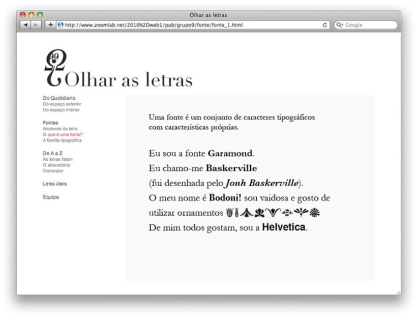 Website Olhar as Letras  1