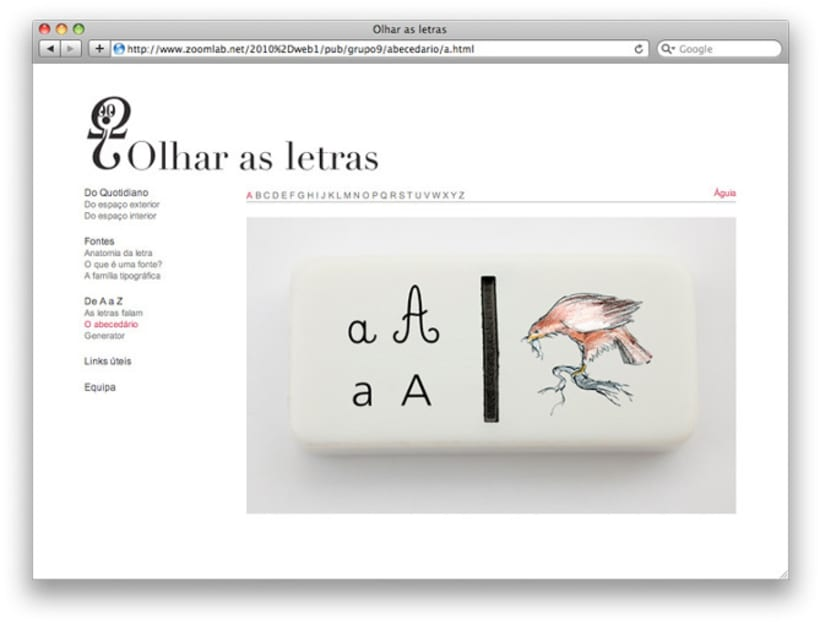 Website Olhar as Letras  2