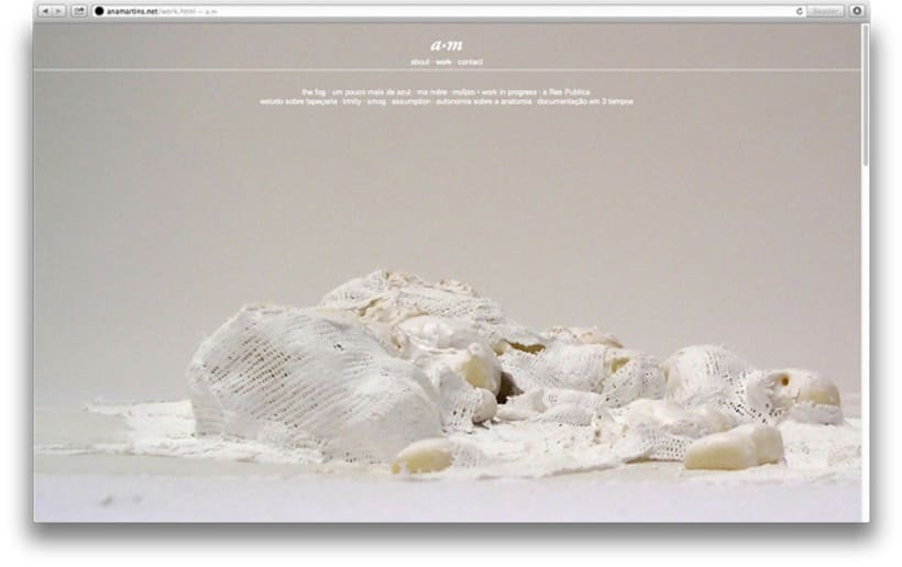 Website for the portuguese artist Ana Martins artist 0