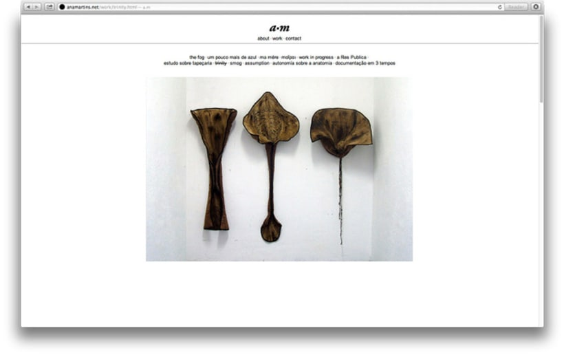 Website for the portuguese artist Ana Martins artist 2
