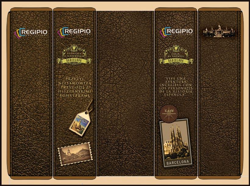 """PAKAGING:  """"Travel to Spanish"""" Regipio`s Desk Game  7"""