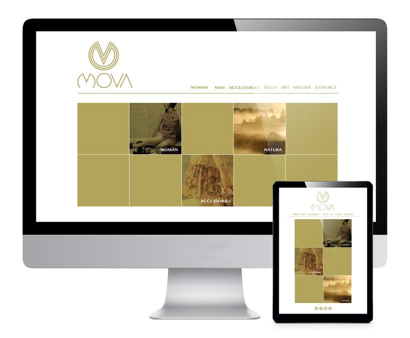 MovaBranding, Imagen Corporativa para una tienda + Papeliería + Diseño Web 4