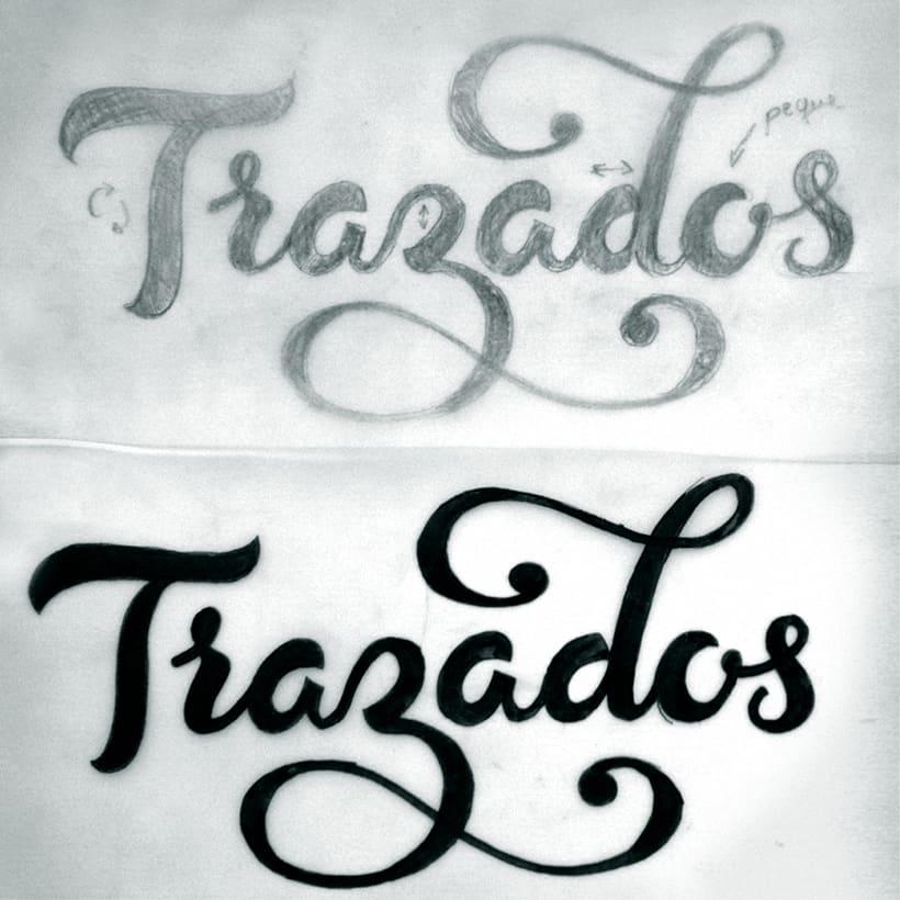 Lettering 'Trazados' 3