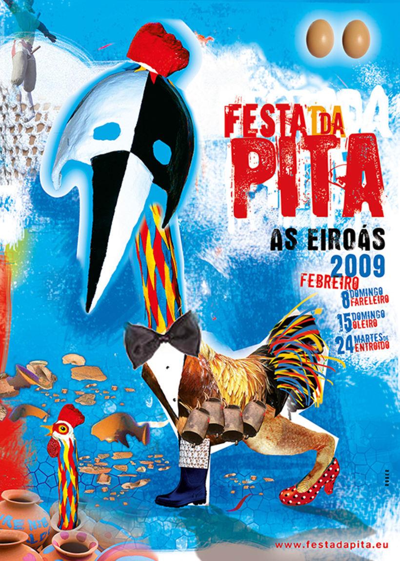Festa da Pita 2009. As Eiroás, Ourense. (Cartel) 0
