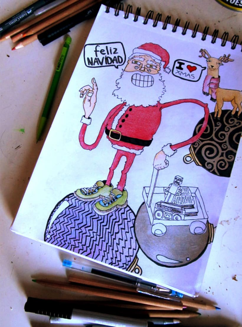 """Hipster Santa"". Personal Project.  -1"