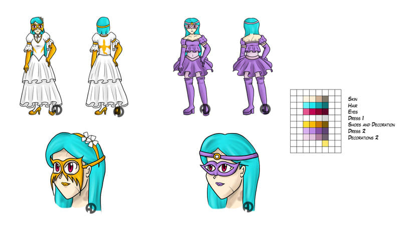 Sweety Zinnias character design 6