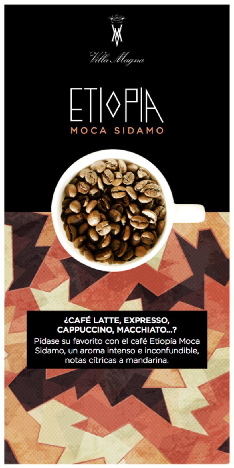 Flyers Cafés del mundo de Villa Magna 3
