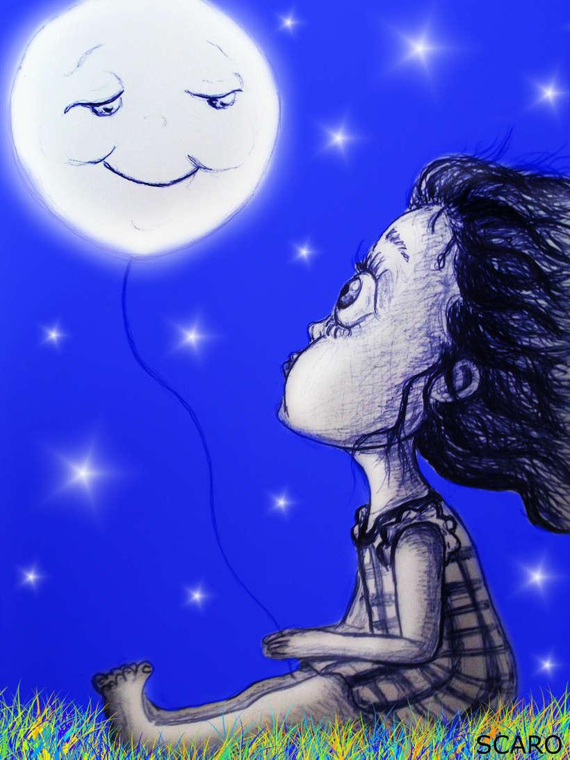 Ilustración infantil... La Luna y yo -1