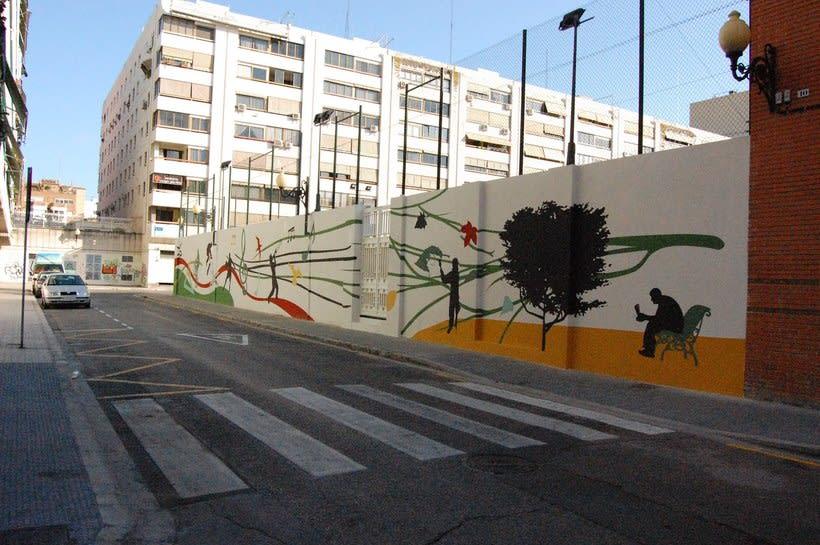 Mural  Colegio San Pedro Pascual  -1