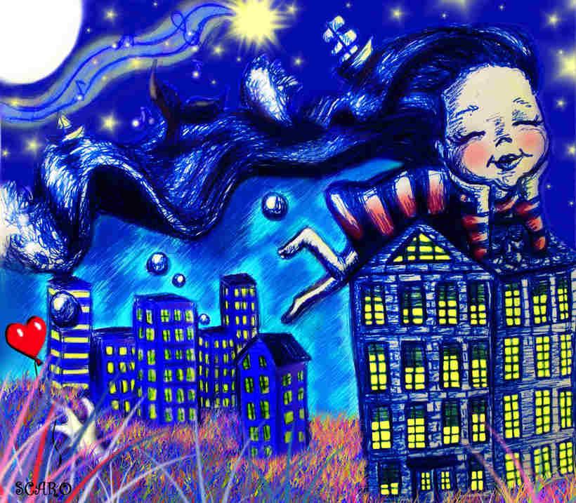 Ilustración infantil... La Luna y yo 0