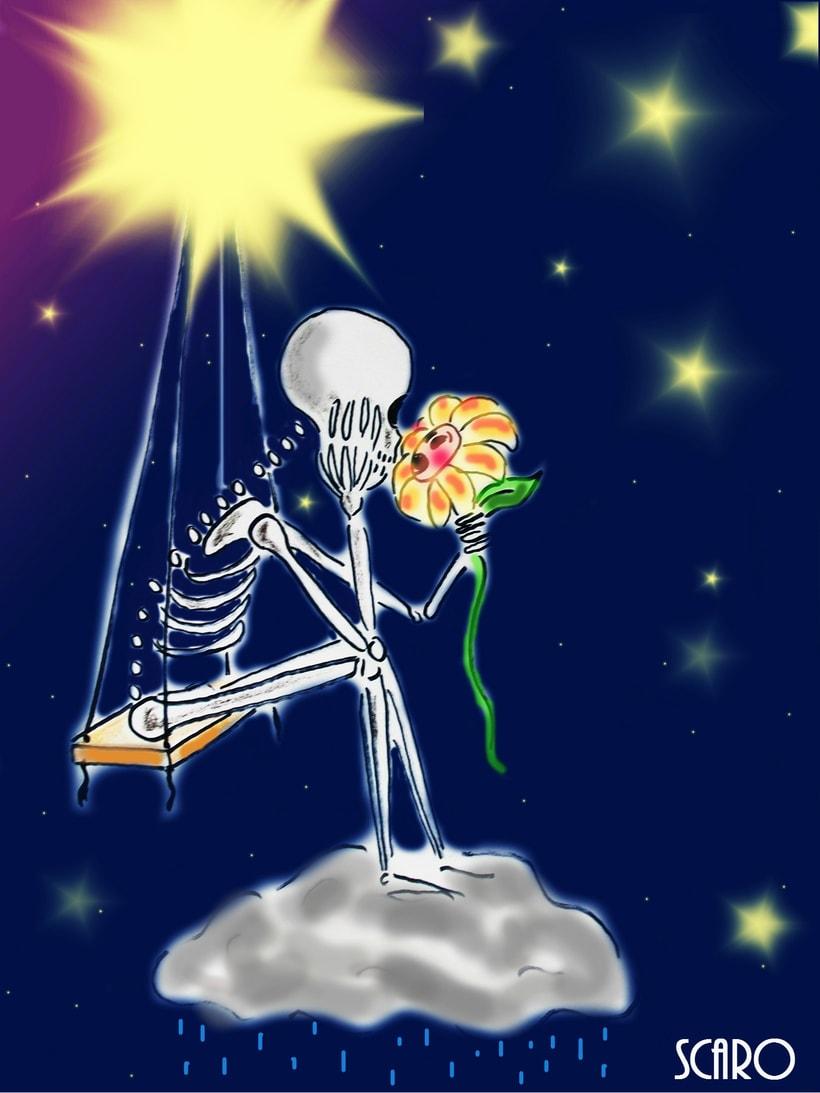 Ilustración infantil... La Luna y yo 1