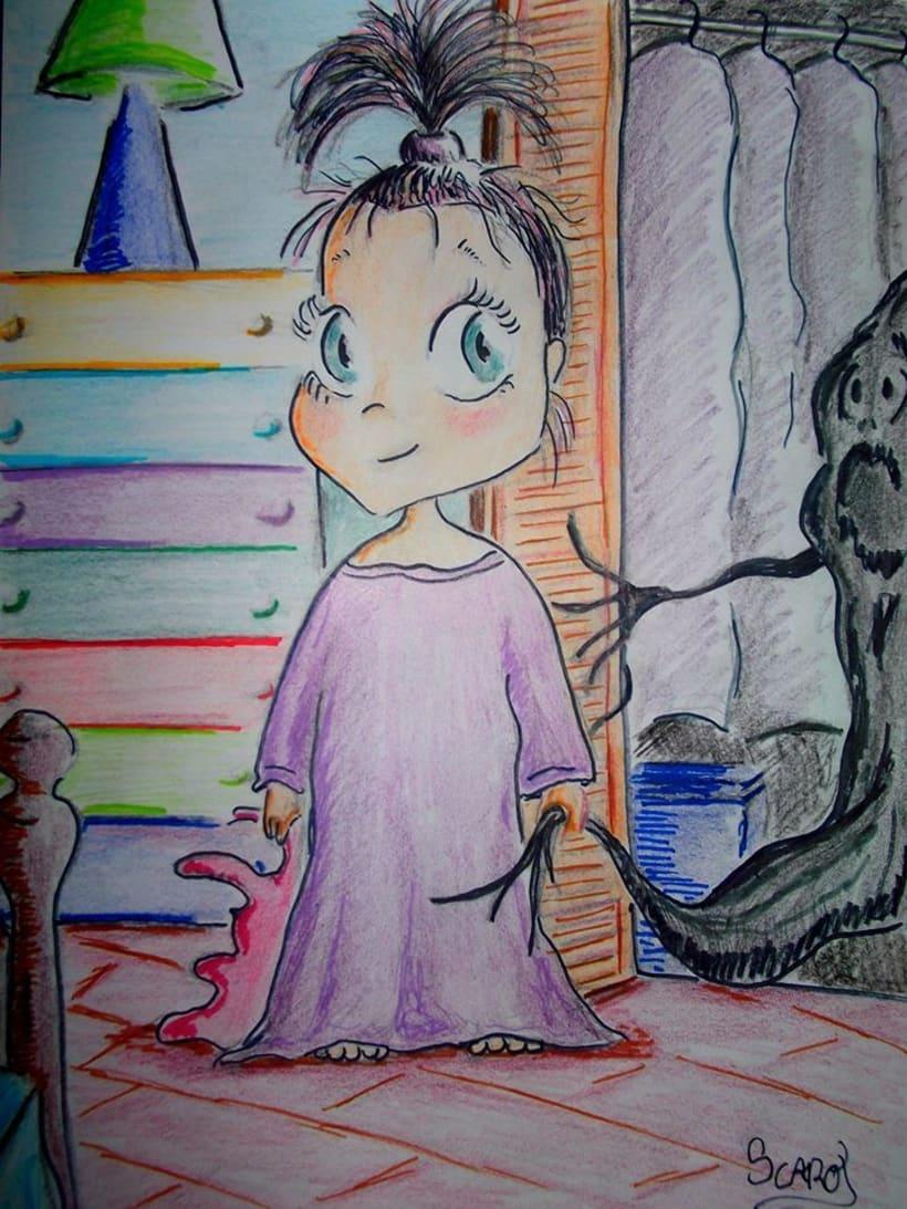 Ilustración infantil... La Luna y yo 5