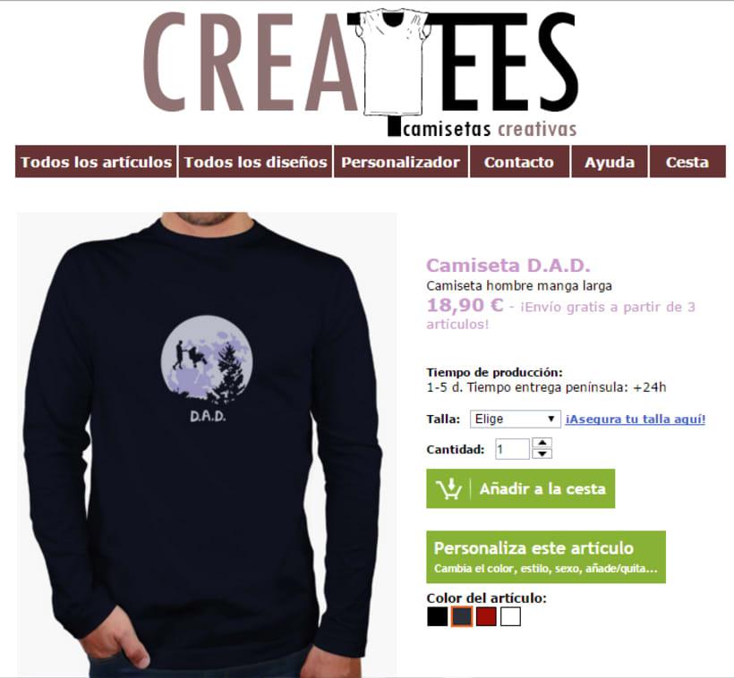 Diseños Camisetas para Createes. 10