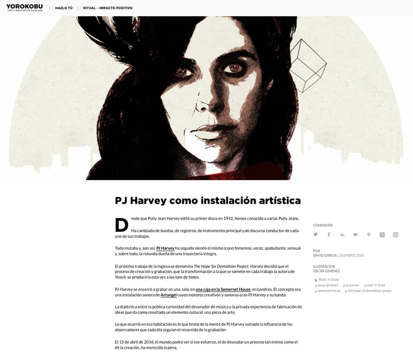 Yorokobu // Rock´n´Draw / PJ Harvey 2