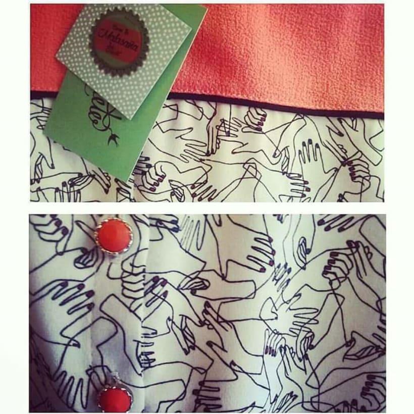 Ilustración decorativa para escaparate y diseño de etiquetas de ropa, para Lady Cacahuete 3