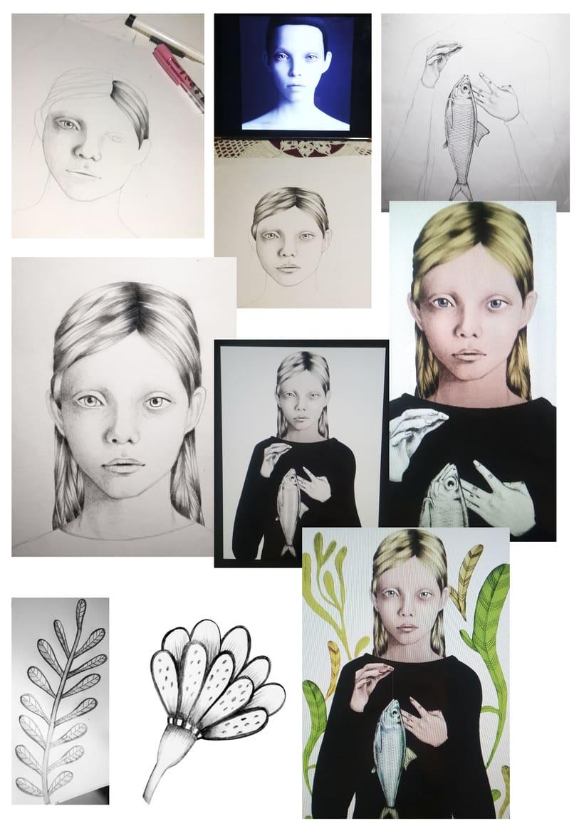 Mi proyecto del curso:Del dibujo a lápiz a la ilustración digital -1