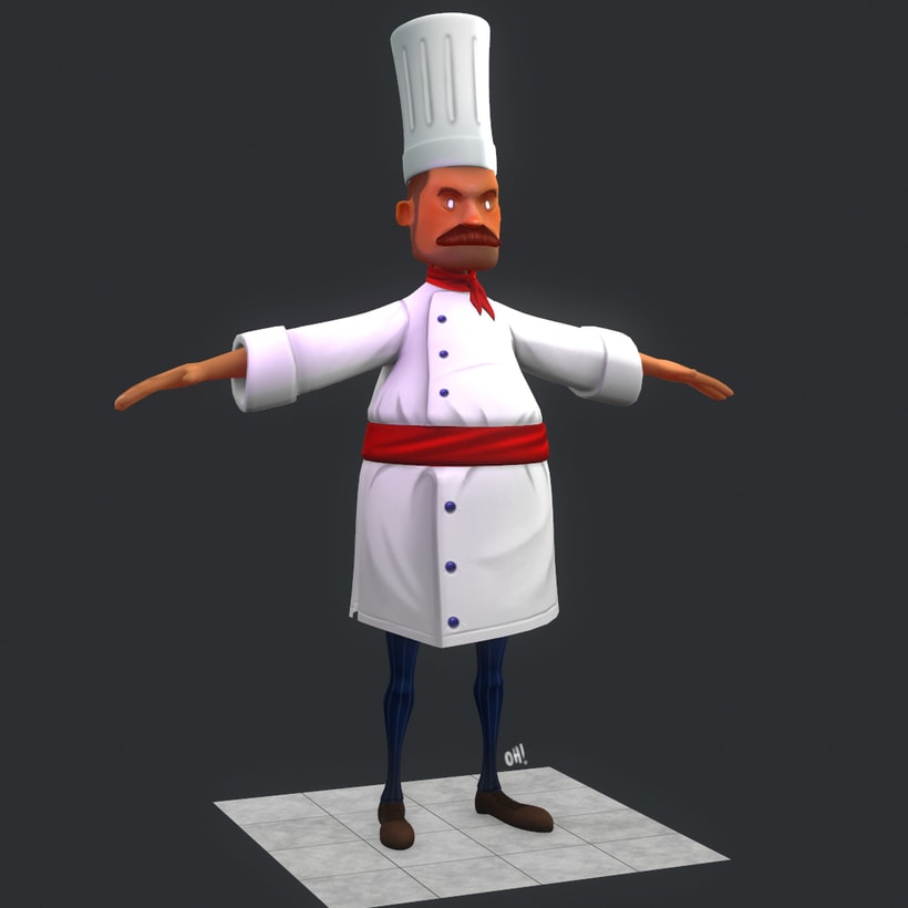 Chef Low Poly -1