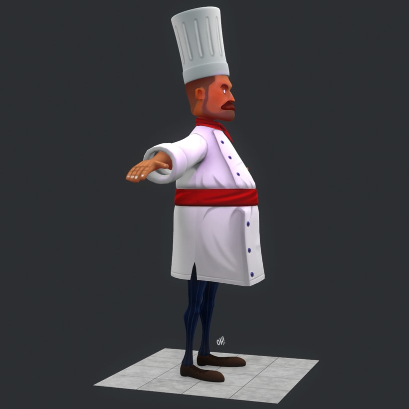 Chef Low Poly 0