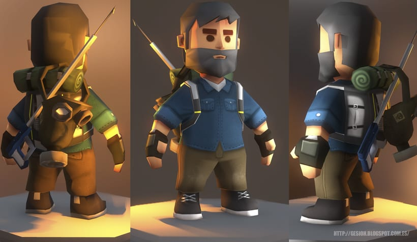 Game character Low Poly 0