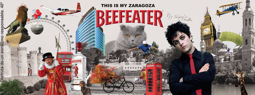 Cartel Beefeater con Photoshop 0