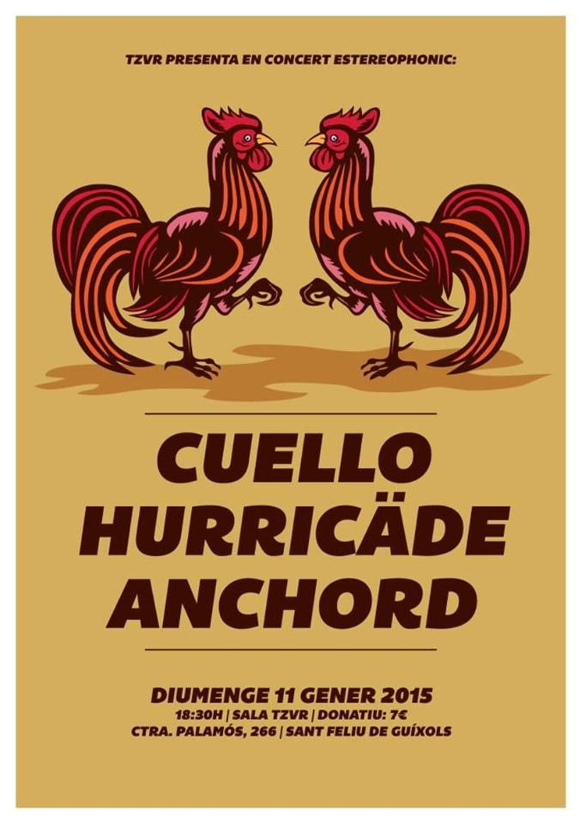 Cartel CUELLO + HURRICÄDE + ANCHORD -1