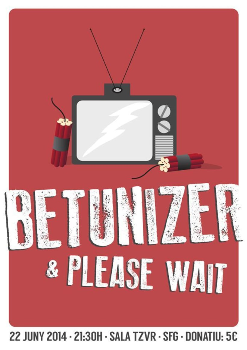 Cartel BETUNIZER + PLEASE WAIT -1