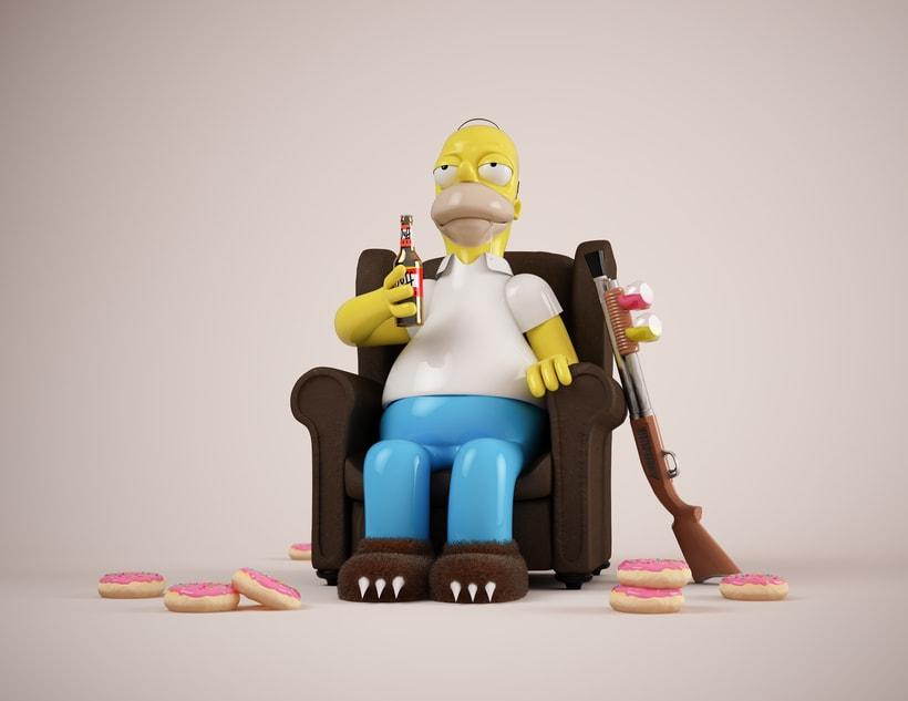 Mi Homer: Diseño de personajes en Cinema 4D: del boceto a la impresión 3D 0