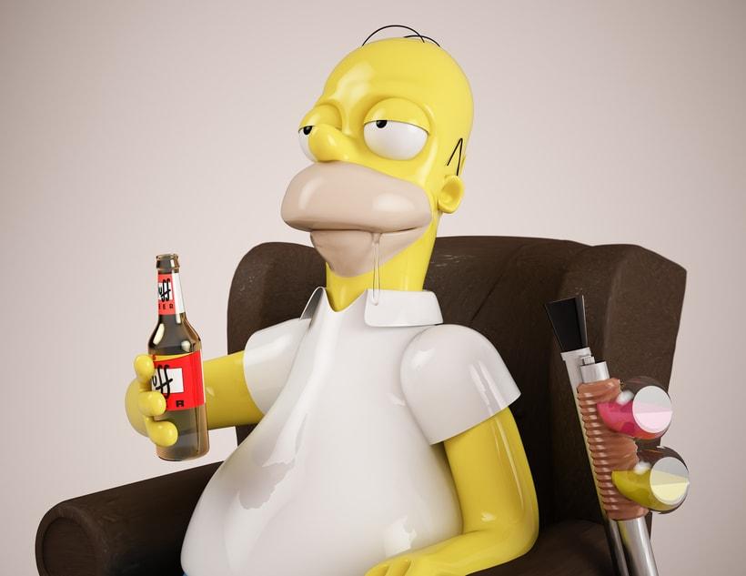 Mi Homer: Diseño de personajes en Cinema 4D: del boceto a la impresión 3D 1