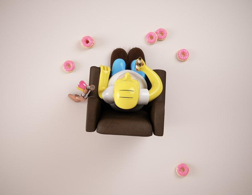Mi Homer: Diseño de personajes en Cinema 4D: del boceto a la impresión 3D 2