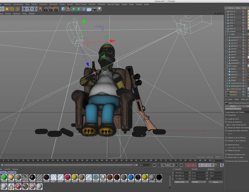 Mi Homer: Diseño de personajes en Cinema 4D: del boceto a la impresión 3D 5