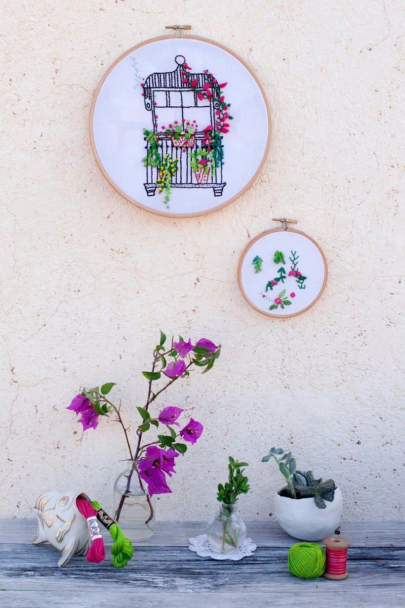 Bordando un balcón para Revista Kireei Cosas Bellas 10