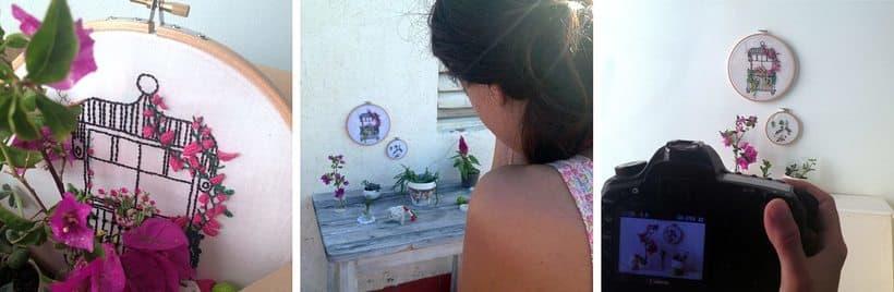 Bordando un balcón para Revista Kireei Cosas Bellas 14