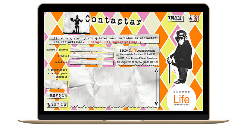 Identidad corporativa, diseño web y marketing - SECONDLIFECOMMUNICATIONS 5