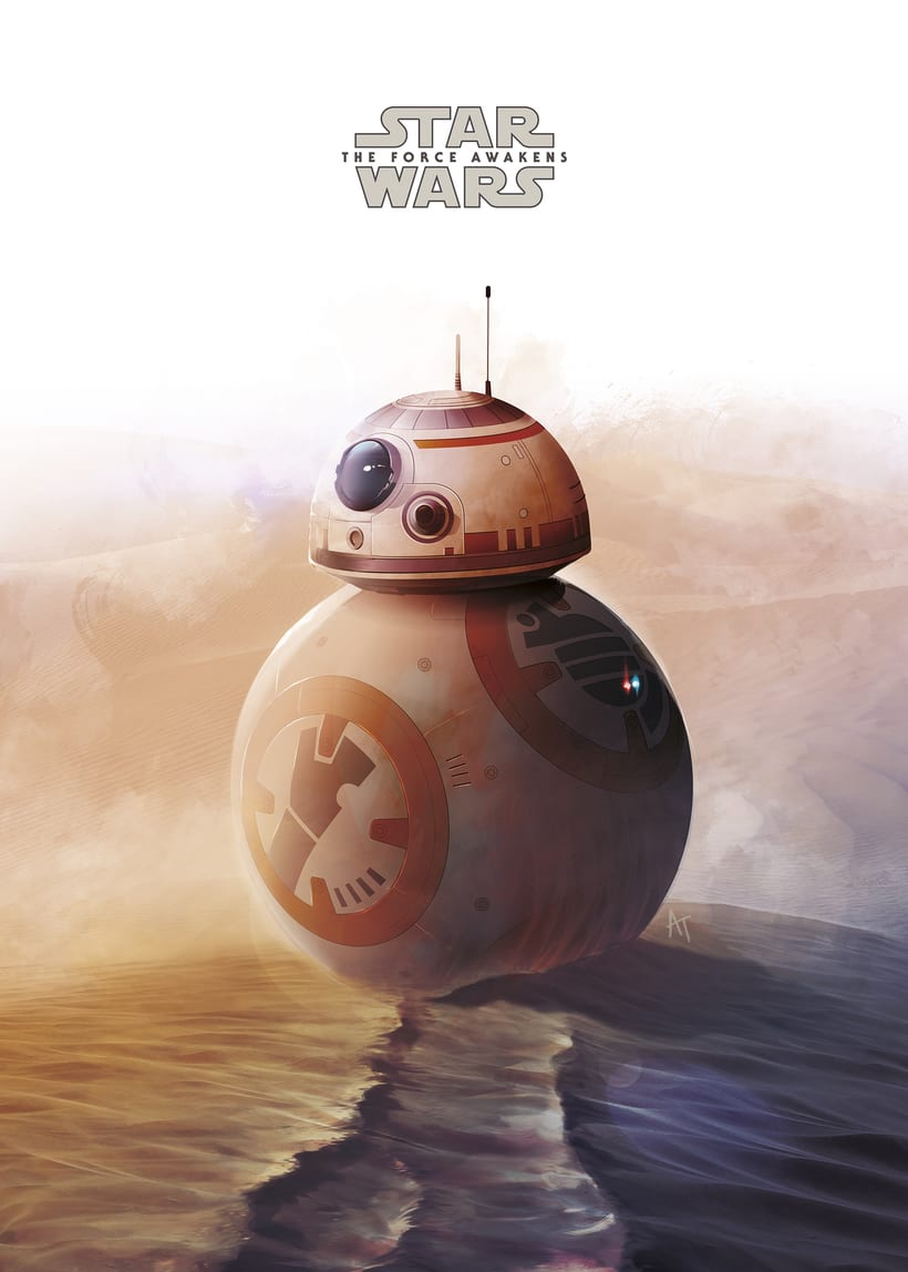"Poster alternativo para la exposición ""Star Wars The Force Awakens Exhibit"" en los Cines Curzon Mayfair en Londres 0"