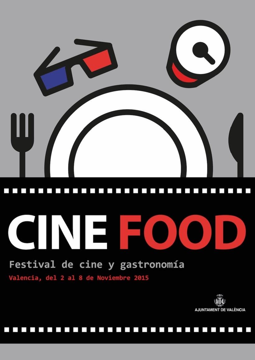 """Propuesta cartel y valla publicitaria """"Cine Food"""" -1"""