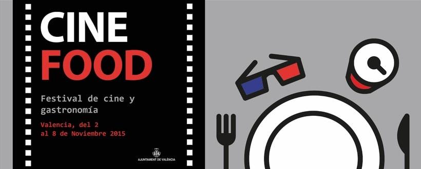 """Propuesta cartel y valla publicitaria """"Cine Food"""" 0"""