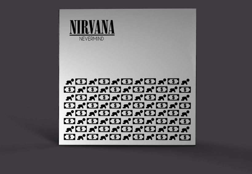 "Propuesta carátula Nirvana ""Nevermind"" -1"
