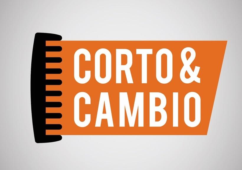 """Propuesta diseño de identidad peluquería ficticia """"Corto y Cambio"""" -1"""