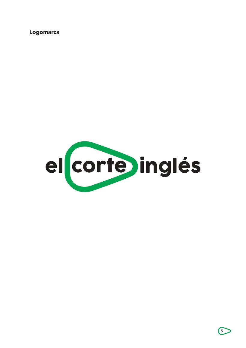 """Breve propuesta rediseño identidad corporativa """"El Corte Inglés"""" y aplicaciones 0"""