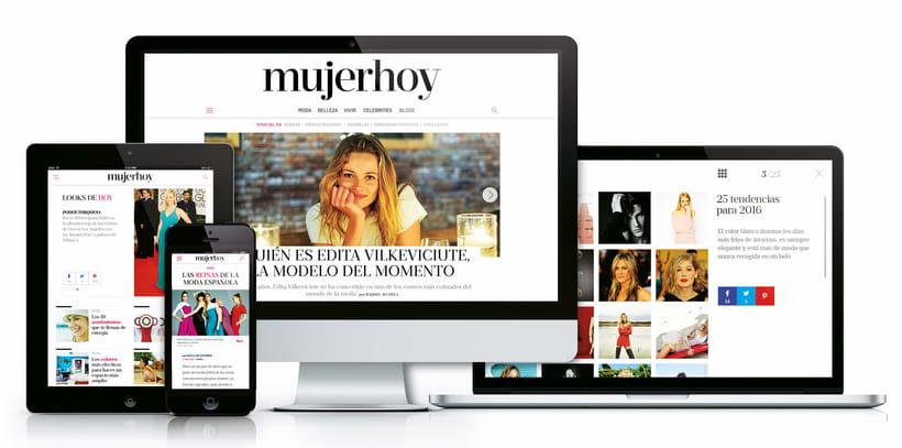 Rediseño en responsive portal mujerhoy.com 0